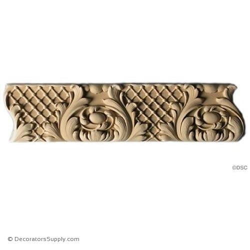 Leaf - Louis XIV 2 3/4H - 1/2Relief-woodwork-furniture-lineal-ornament-Decorators Supply