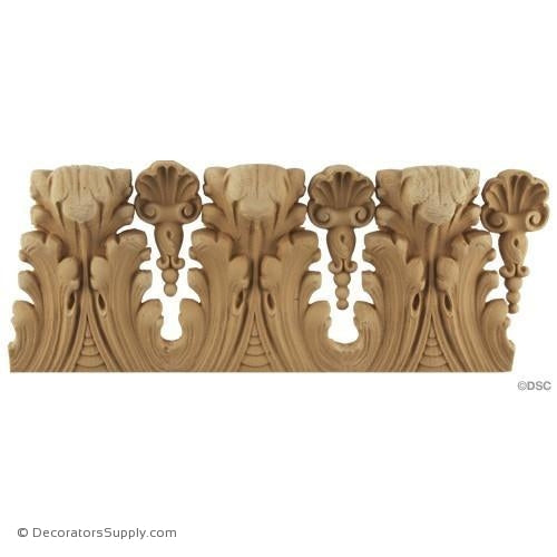 Acanthus Leaf - Louis XVI 3 7/8H - 1/2Relief-woodwork-furniture-lineal-ornament-Decorators Supply