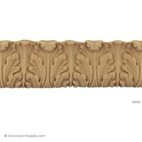 Acanthus Leaf - Louis XVI 1 1/2H - 1/4Relief-woodwork-furniture-lineal-ornament-Decorators Supply