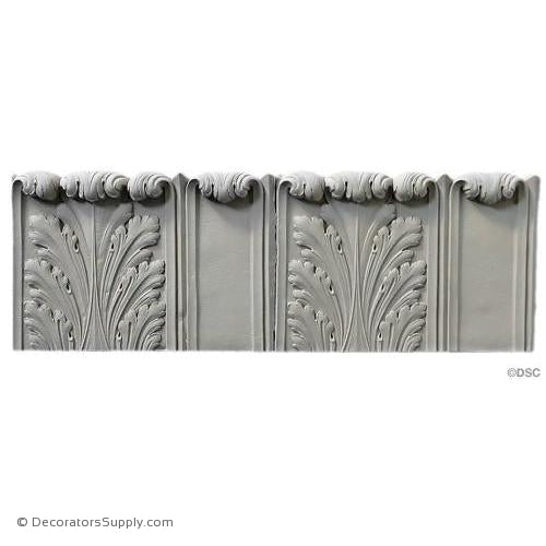 Fluted Acanthus - Colonial 6 1/4H - 1/2Relief-woodwork-furniture-lineal-ornament-Decorators Supply