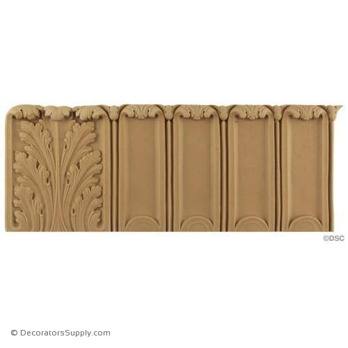 Fluted Acanthus - Colonial 4 1/8H - 1/4Relief-woodwork-furniture-lineal-ornament-Decorators Supply