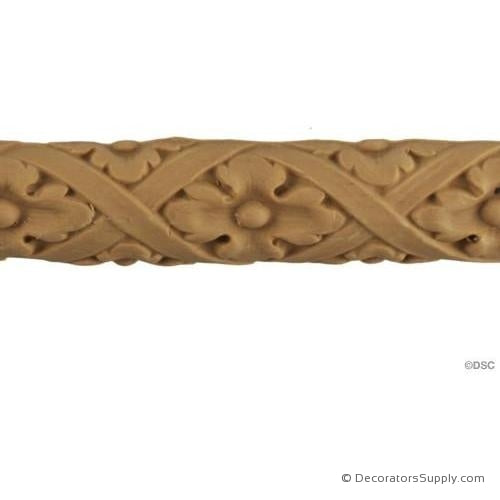 Floral-Italian 1H - 7/16Relief-moulding-for-furniture-woodwork-Decorators Supply