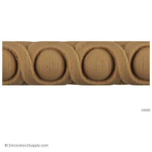 Running Coin - Italian 7/8H - 7/16Relief-moulding-for-furniture-woodwork-Decorators Supply