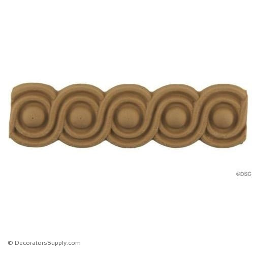 Decorative Wood Trim For Furniture Includes Coin And Beading