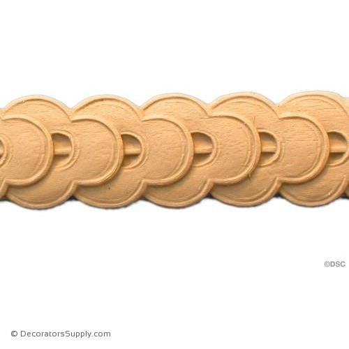 Running Coin - Classic 1 1/2H - 1/8Relief-moulding-for-furniture-woodwork-Decorators Supply