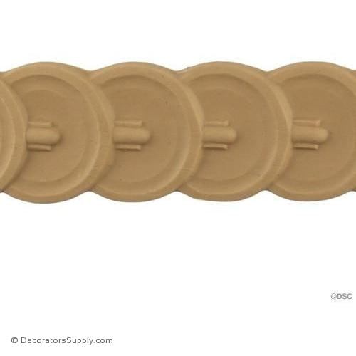 Running Coin - Classic 2 1/8H - 3/16Relief-moulding-for-furniture-woodwork-Decorators Supply