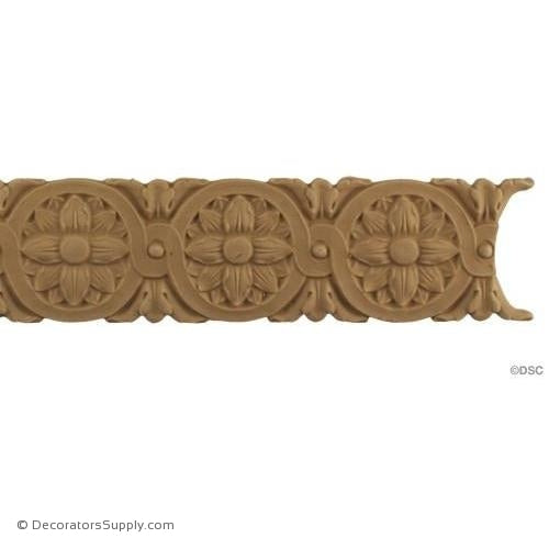 Rosette Lineal - Louis XVI 2 1/4H - 1/4Relief-woodwork-furniture-lineal-ornament-Decorators Supply