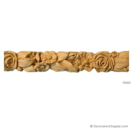 Rose Lineal - Louis XVI 2 1/8H - 1Relief-moulding-for-furniture-woodwork-Decorators Supply