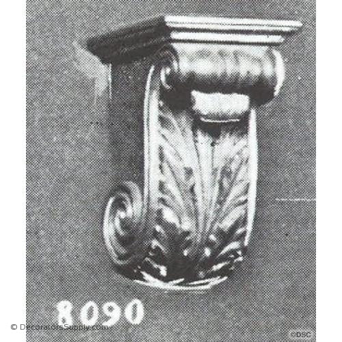 "Plaster Corbel-Renaissance- 3 3/4""W x 4 5/8""Proj x 6""D-varied-sizes-Decorators Supply"