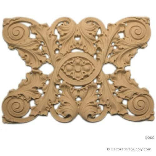 Floral-Sullivan 5 3/8H - 5/16Relief-moulding-for-furniture-woodwork-Decorators Supply