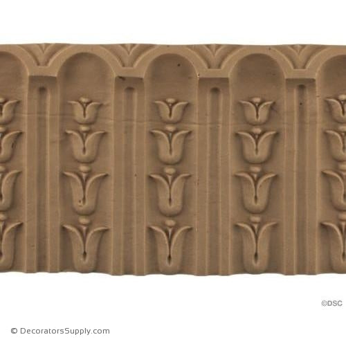 Fluted Bell Flower - Louis XVI 4 1/4H - 5/16Relief-moulding-for-furniture-woodwork-Decorators Supply