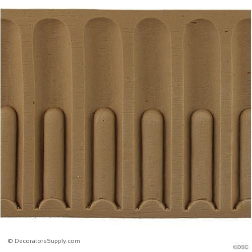 Fluted - Colonial 4 5/16H - 1/4Relief-moulding-for-furniture-woodwork-Decorators Supply