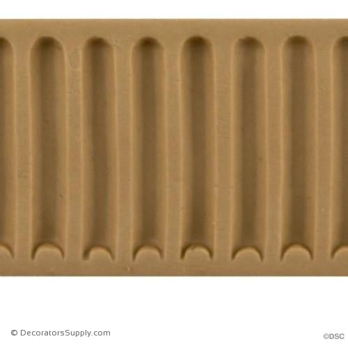 Fluted-Colonial 1 5/8H - 3/16Relief-moulding-for-furniture-woodwork-Decorators Supply