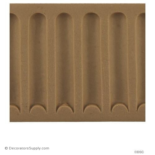 Fluted-Colonial 2H - 3/16Relief-moulding-for-furniture-woodwork-Decorators Supply