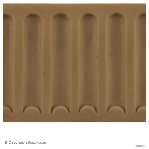 Fluted-Colonial 2 1/4H - 3/16Relief-moulding-for-furniture-woodwork-Decorators Supply
