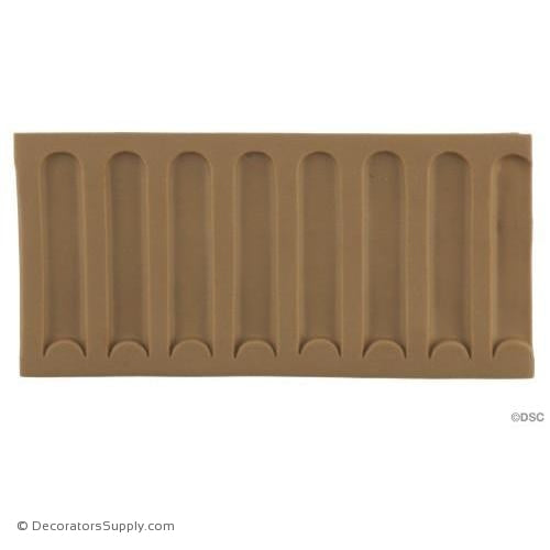 Fluted-Colonial 2 3/4H - 3/16Relief-moulding-for-furniture-woodwork-Decorators Supply