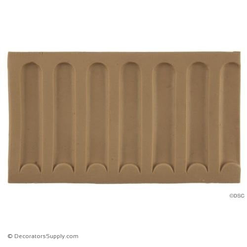 Fluted-Colonial 3H - 3/16Relief-moulding-for-furniture-woodwork-Decorators Supply