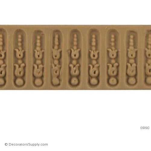 Fluted-Louis XVI 1H - 1/16Relief-moulding-for-furniture-woodwork-Decorators Supply