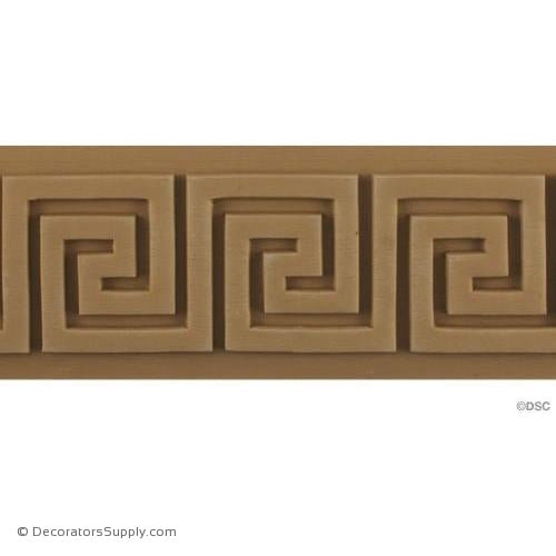 Greek Key-Classic 3 1/2H - 5/16Relief-moulding-for-woodwork-furniture-Decorators Supply