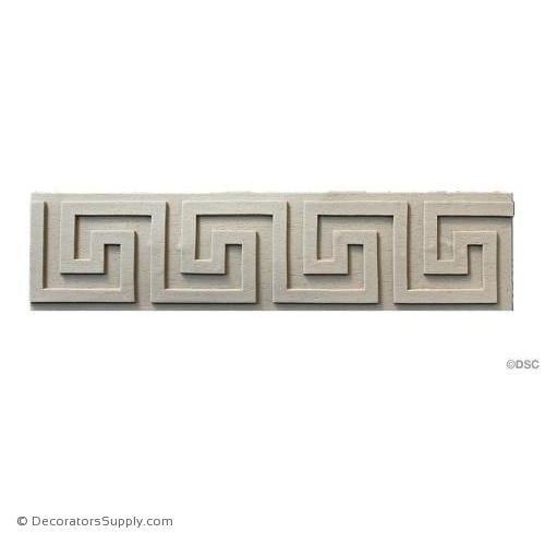 Greek Key-Classic 3H - 3/16Relief-moulding-for-woodwork-furniture-Decorators Supply