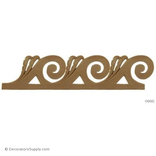 Vitruvian Wave-Classic 2 1/8H - 3/16Relief-moulding-for-furniture-woodwork-Decorators Supply