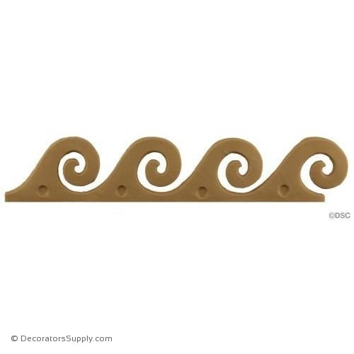 Vitruvian Wave - 1 7/8H - 1/8Relief-moulding-for-furniture-woodwork-Decorators Supply