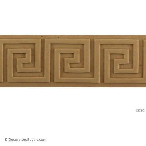Greek Key-Greek 1 3/8H - 1/8Relief-moulding-for-woodwork-furniture-Decorators Supply