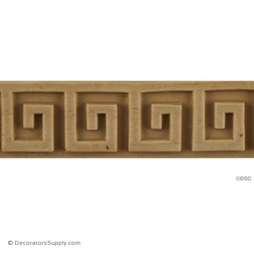 Greek Key-Greek 15/16H - 1/8Relief-moulding-for-woodwork-furniture-Decorators Supply