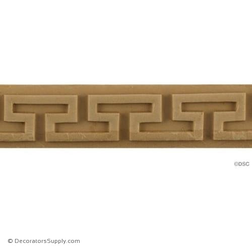 Greek Key-Greek 1 1/4H - 3/16Relief-moulding-for-woodwork-furniture-Decorators Supply