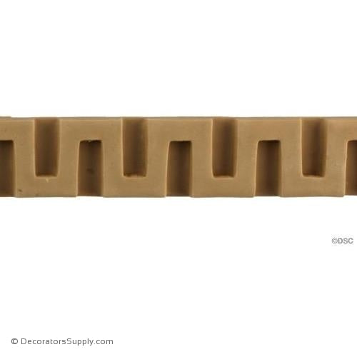 Greek Key-Greek 1 1/8H - 5/16Relief-moulding-for-woodwork-furniture-Decorators Supply
