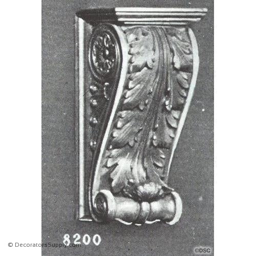 "Plaster Corbel-Renaissance-6""Width x 5""Proj x 13""Drop-varied-sizes-Decorators Supply"