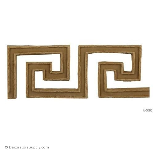 Greek Key-Greek 1 11/16H - 3/16Relief-moulding-for-woodwork-furniture-Decorators Supply