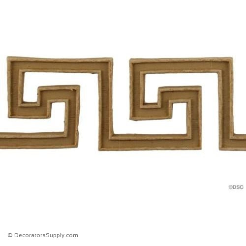 Greek Key-Greek 1 9/16H - 3/16Relief-moulding-for-woodwork-furniture-Decorators Supply