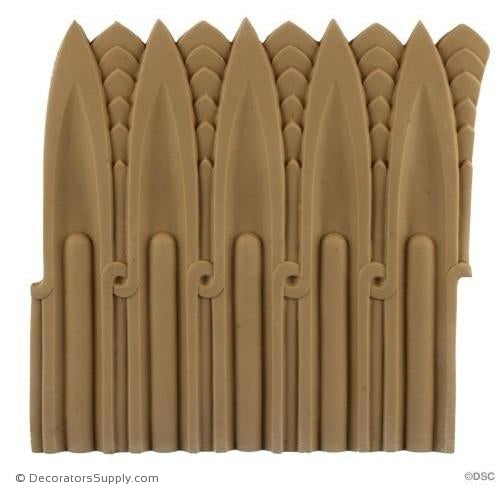Fluted-Egyptian 7 3/8H - 1/4Relief-moulding-for-furniture-woodwork-Decorators Supply