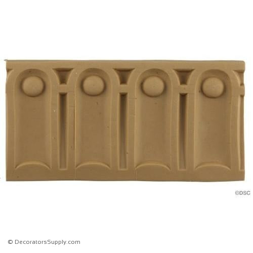 Fluted-Roman 3 1/8H - 3/8Relief-moulding-for-furniture-woodwork-Decorators Supply
