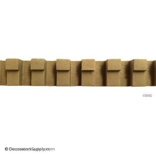 Dentil - Colonial 5/8H - 5/16Relief-moulding-for-furniture-woodwork-Decorators Supply