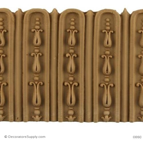 Fluted-Louis XVI 3 5/8H - 1/8Relief-moulding-for-furniture-woodwork-Decorators Supply