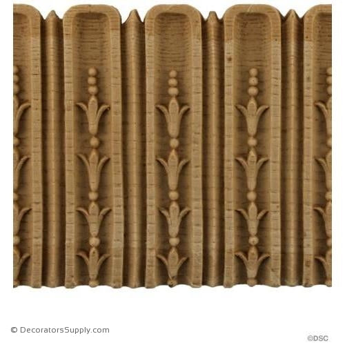 Fluted-Louis XVI 3 9/16H - 1/8Relief-moulding-for-furniture-woodwork-Decorators Supply