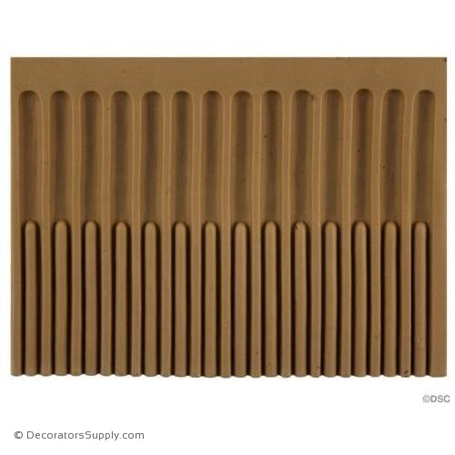Fluted-Colonial 4 3/4H - 3/16Relief-moulding-for-furniture-woodwork-Decorators Supply