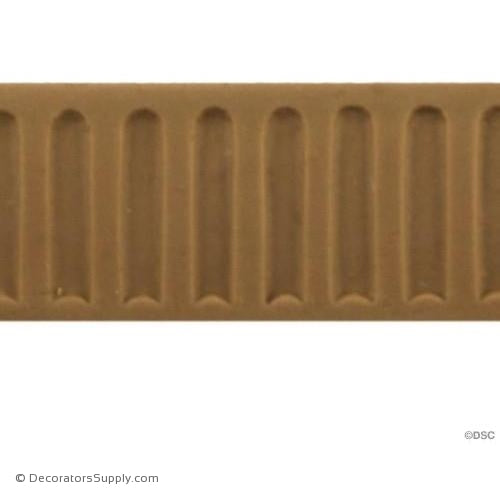 Fluted-Colonial 3/4H - 1/16Relief-moulding-for-furniture-woodwork-Decorators Supply