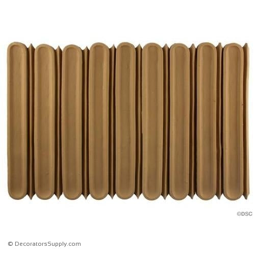 Fluted-Roman 10 1/2H - 7/16Relief-moulding-for-furniture-woodwork-Decorators Supply