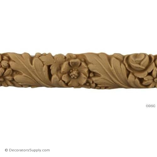 Leaf and Flower - Louis XVI 1H - 3/8Relief-moulding-for-furniture-woodwork-Decorators Supply