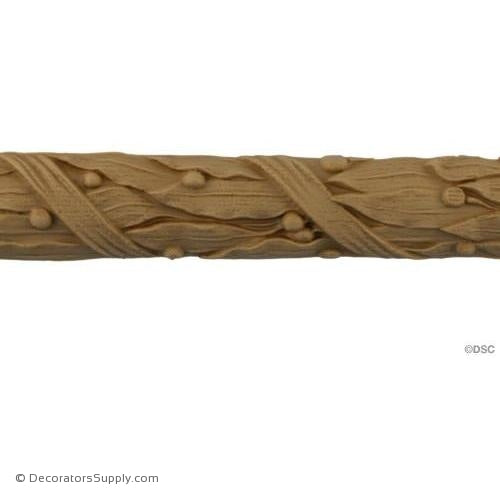 Laurel Leaf and Ribbon - Louis XVI 1 1/4H - 7/16Relief-moulding-for-woodwork-furniture-Decorators Supply