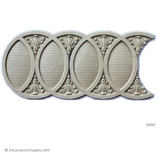 Interlocking Rings - Roman 9 1/8H - 1/4Relief-moulding-for-furniture-woodwork-Decorators Supply
