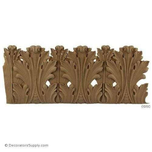 Acanthus Linear - Empire 5 1/8H - 3/16-3/8Relief-woodwork-furniture-lineal-ornament-Decorators Supply