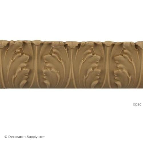 Acanthus Leaf Linear - Ital. Ren. 1 3/8H - 3/16Relief-woodwork-furniture-lineal-ornament-Decorators Supply