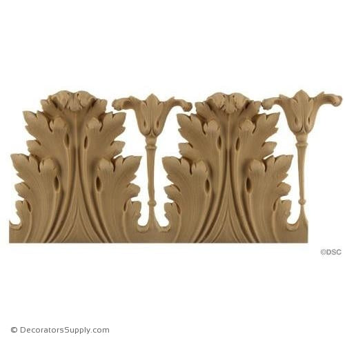 Acanthus Leaf Linear - Louis XVI 3 3/4H - 1/2-3/8Relief-woodwork-furniture-lineal-ornament-Decorators Supply
