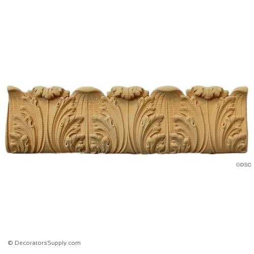 Acanthus Leaf Linear - Louis XVI 4 1/4H - 5/8Relief-woodwork-furniture-lineal-ornament-Decorators Supply