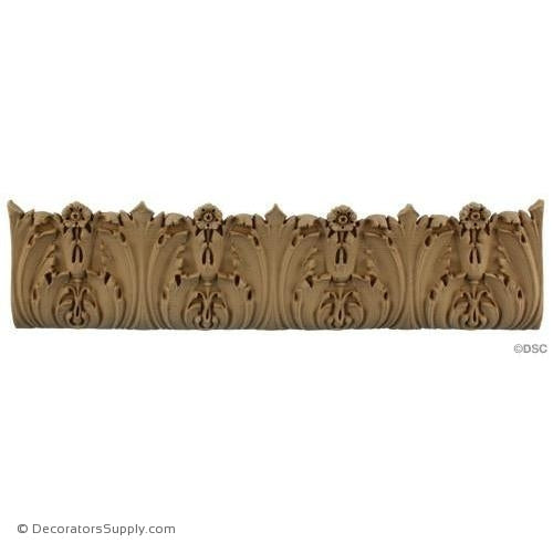 Acanthus Leaf Linear - Ital. Ren. 3 1/2H - 1/2Relief-woodwork-furniture-lineal-ornament-Decorators Supply