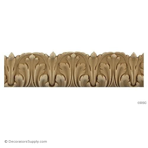 Acanthus Leaf Linear - Louis XVI 1 3/8H - 5/16Relief-woodwork-furniture-lineal-ornament-Decorators Supply